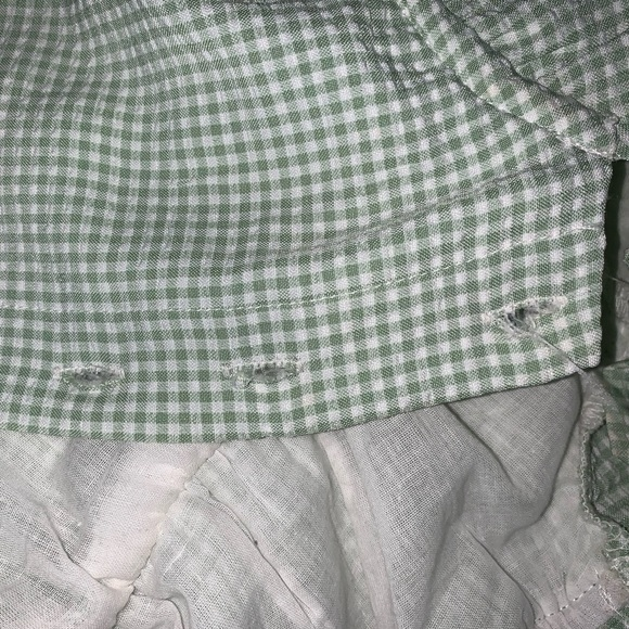 Princess Polly Elouise Top: Mint Gingham